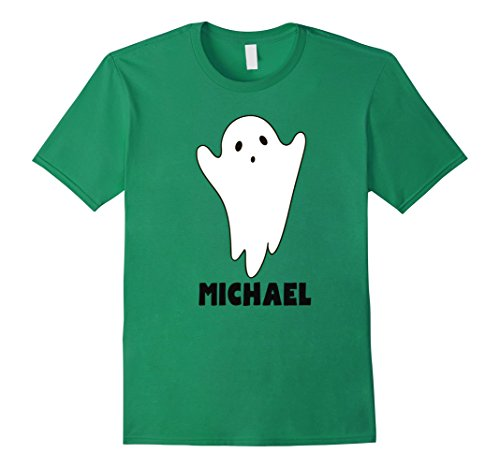 Michael And Kelly Costumes For Halloween (Mens Halloween Ghost with a Name Costume TShirt for Michael 2XL Kelly Green)