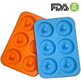 2-Pack Donut Baking Pan, Silicone, Non-Stick Mold, Bake Full Size Perfect Shaped