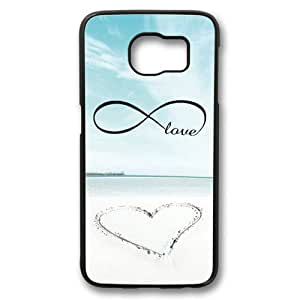 Beach Infinity Love Theme Samsung Galaxy S6 Case PC Material Black
