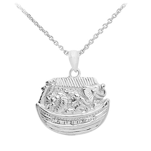 (Noah's Ark Pendant with Necklace in .925 Sterling Silver (18))