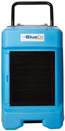 BlueDri BD-BD-130-BL Industrial Commercial Dehumidifier with Hose for Basements in Homes and Job Sites, Blue