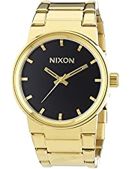Nixon Mens Cannon A160510 Gold Stainless-Steel Quartz Watch