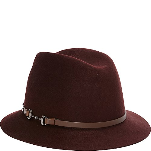 Karen Kane Hats Fedora with Lux Trim (S/M - Burgundy-Medium/Large) by Karen Kane Hats