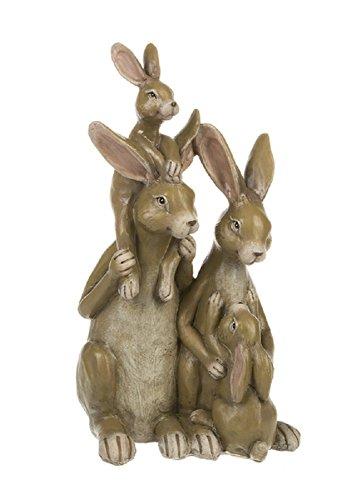Ganz 5 inches width x 4.75 inches depth x 10 inches height Bunny Family Collectible Figurine