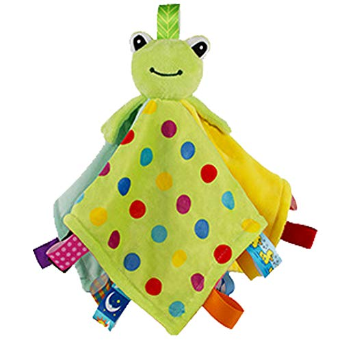 - Toddler Taggy Security Blankets Soft Plushy Cuddle Bud Blankie Breathable Snuggle Blanket for Boys and Girls, Green Frog