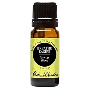 Breathe Easier 100% Pure Therapeutic Grade Synergy Blend Essential Oil by Edens Garden-10 ml, GC/MS tested, CPTG