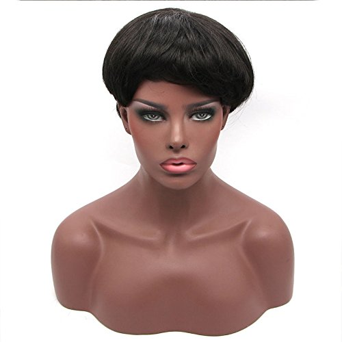 Short Real Human Hair Cut Wigs for Black Women Pixie Haircuts Costume Wigs for Cancer (A Cut Above Costumes)