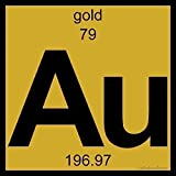 "Gold! A perfect gift for that chemistry major, science teacher, metal smith, or just because. It's a beautiful accent for any desk, coffee table, counter, or dresser. Product Detail This is a 6"" x 6"" high-gloss ceramic tile with digital print imagery..."