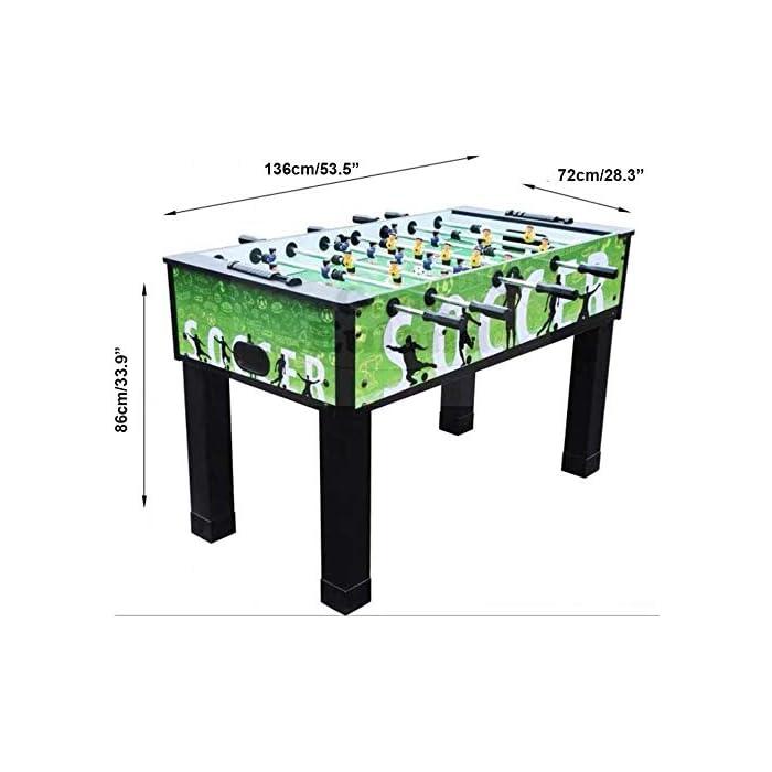 41 benY7VoL ★ : restaura campos de fútbol reales, como 22 jugadores bien hechos y el parque verde. Además, el dispositivo de puntuación manual en cada lado le permite registrar la puntuación del juego, haciendo que el partido de futbolín sea más emocionante. El futbolín de mesa puede aumentar su capacidad de coordinación y equilibrio. ★ : la mesa de futbolín hecha de MDF y metal, que es duradera y estable. Las cuatro patas son lo suficientemente grandes y nunca se tambalean, el tamaño de la competencia es adecuado tanto para la recreación en interiores de niños como para adultos, y la sala de juegos, sala de juegos. ★ : cada jugador está hecho a mano con material ABS respetuoso con el medio ambiente, y la tubería de acero es más gruesa que otras, puede usarla durante largos años, es un regalo de cumpleaños ideal o un regalo de Navidad para niños.