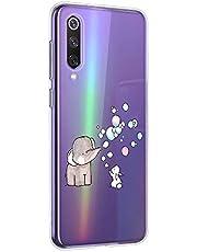 Oihxse Animal Serie Case Compatible con Motorola Moto G7 Play Funda Transparente Suave Silicona Elefante Conejo Patrón Protector Carcasa Ultra-Delgado Creativa Anti-Choque Cover (A7)