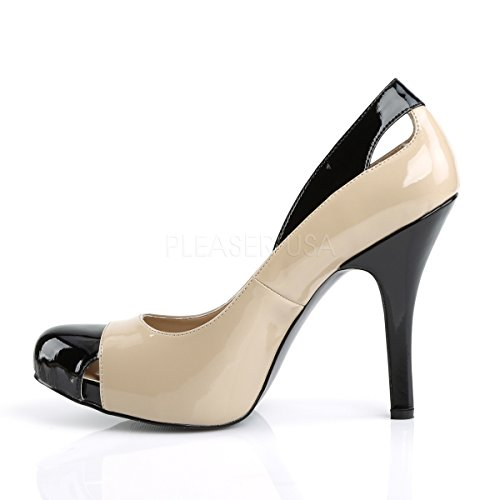 Heels Shoes Extra Higher Black 07 Eve Label Pleaser Womens Twotone Size Court cream Spectator patent Pink Cream fXwvdX