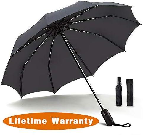 JUKSTG Windproof Waterproof Umbrellas Ergonomic