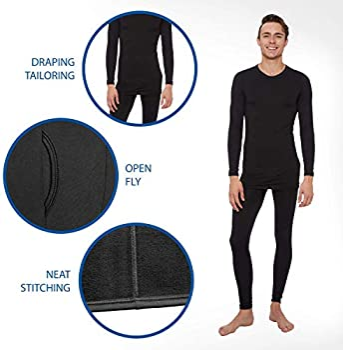 Rocky Mens Fleece Lined Thermal Bottoms Long Underwear Baselayer Pants Legging