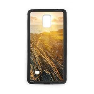 [Nature & Landscape] Atlantic Coast Case for Samsung Galaxy Note 4, Samsung Galaxy Note 4 Case Luxury for Teen Girls {Black}