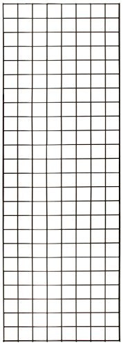 KC Store Fixtures A04204 Gridwall Panel, 2' W x 6' H, Black (Pack of 3) ()