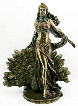 Hera & Peacock Statue - Greek Mythology - Magnificent - Ships Immediatly !!