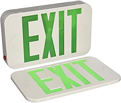Progress Lighting PE009-30 Exit Signs LED exit sign with green letters.