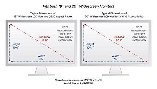 Kantek LCD Monitor Magnifier Filter, Fits 19 Inch Widescreen LCD Screens Measured Diagonally (MAG19WL)