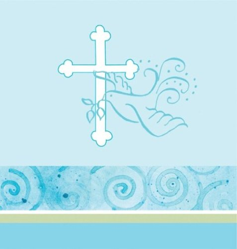 Plastic Tablecover, Faithful Dove, Blue -