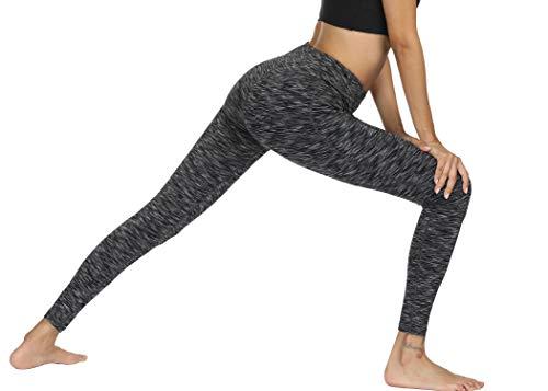 Fengbay High Waist Yoga Pants, Pocket Yoga Pants Tummy Control Workout Running 4 Way Stretch Yoga Leggings (X-Small, 9622 Black) by Fengbay (Image #5)