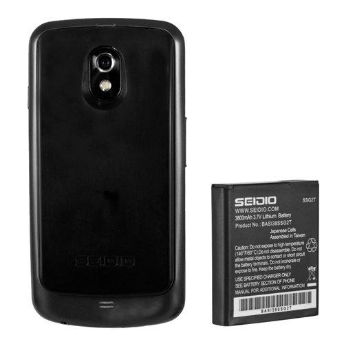 Seidio BACY38SSGNL-BK Innocell 3800mAh Extended Life Battery for Samsung Galaxy Nexus (LTE) - Retail Packaging - Black by Seidio