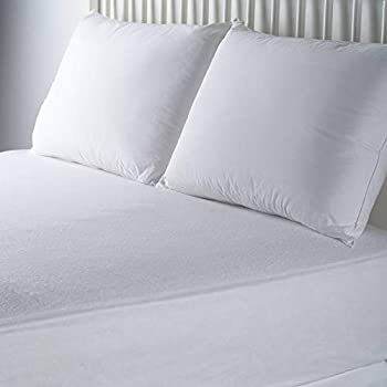 Mainstays Waterproof Fitted Soft Top Mattress Protector, White