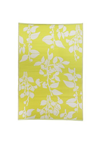 FH Home Yellow 4 x 6 FH11 Indoor Outdoor Reversible Recycled Plastic Mat