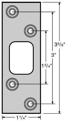 Kwikset 83222 Maximum Series Deadbolt Strike., Satin Nickel ()