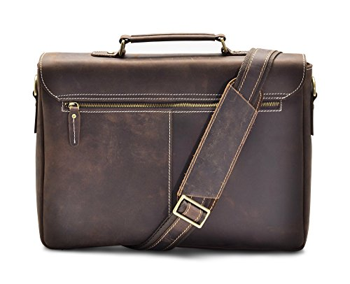 """Hølssen Briefcase Messenger 13"""" Laptop Genuine Leather Bag by Hølssen (Image #2)"""