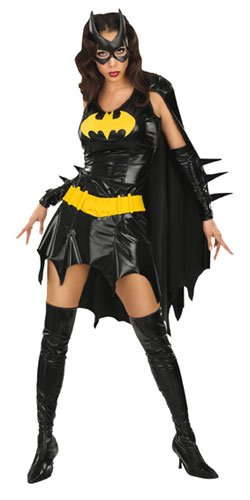 Multicoloured XS Rubie's Batgirl Comic Sexy Skimpy and Complete Low, Black Gloss, Fancy Dress Costume