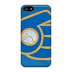 Cute L.M.CASE Milwaukee Brewers Case Cover For Iphone 5/5s