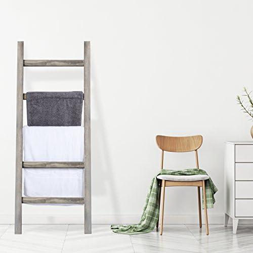 Amazon.com: MyGift - Manta de madera, estilo escalera, color ...