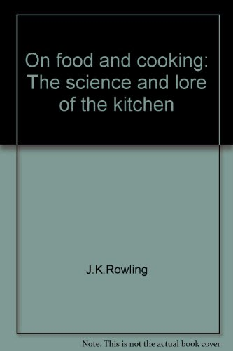 On food and cooking: The science and lore of the kitchen (Kitchen Equip)
