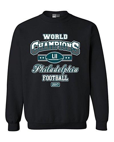 World Champion Philadelphia Football DT Crewneck Sweatshirt (XXX Large, Black) (Best Philadelphia Eagles Players)
