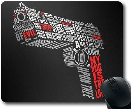 Yanteng Alfombrilla de ratón para Juegos, máquina Ametralladora, Mejores Armas, Alfombrilla de ratón con Bordes cosidos