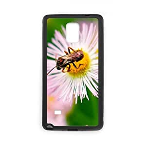 Case For Samsung Galaxy Note 4, Nature Bug On Flower Case For Samsung Galaxy Note 4, Doah Black