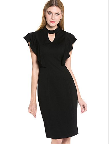 JIALELE Dress Vintage,Dress Plus Size,Dress 12 Womens Black Dress,Round Neck