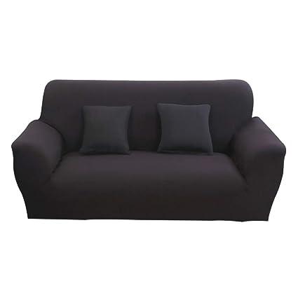Hotniu Funda de sofá elástica, Cubre de sofá o sillón Universal, Protector Pare Sofa Muebles de 3 plazas, Negro