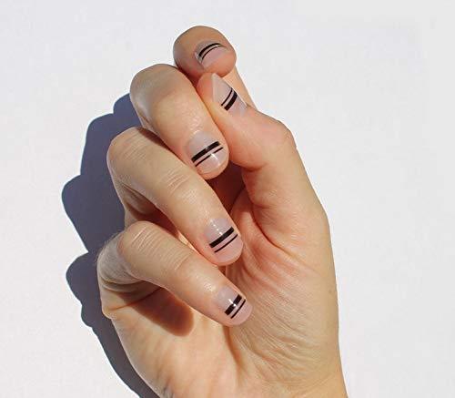 Black Mia Nail Wraps by Nail Wraps