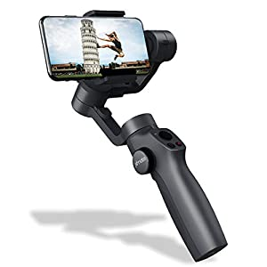 Xmate Tour 3 Axis Handheld Smartphone Gimbal (Black) |Object Tracking | Zoom Capability |Video Edit & Share Support | 12 Hours Battery Life 12
