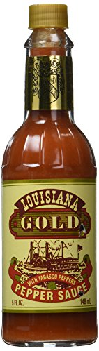 Louisiana Gold Red Pepper Sauce with Tabasco Peppers - 5 oz - Louisiana Gold Red Pepper