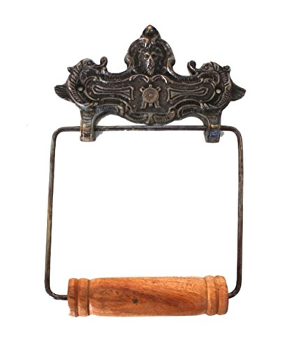The King's Bay Wall Mount VINTAGE STYLE Toilet Paper Holder in darkened Bronze French ()
