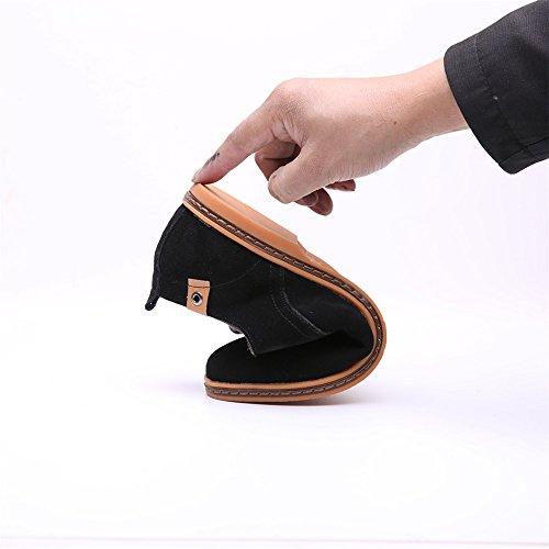 Cuero Oxford Casual trabajo para Planos cordones Negro Zapatos SHELAIDON hombre Vestir de de de B6qfR0BwxH