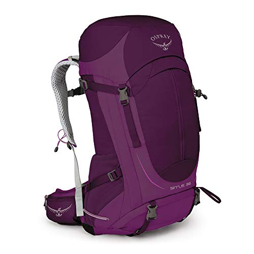 - Osprey Packs Sirrus 36 Women's Hiking Backpack, Ruska Purple, Small/Medium