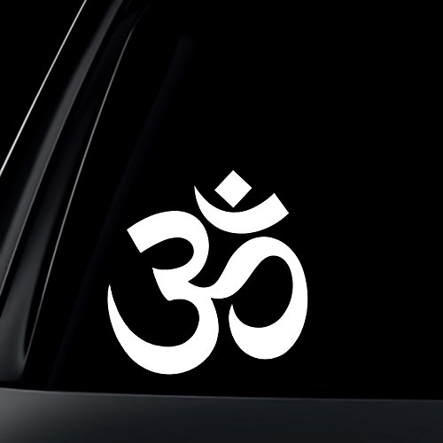 Om  Ohm  Symbol Car Decal   Sticker