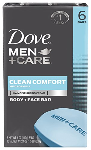 Dove Men + Care corps et visage Bar, propre confort 4 oz, 6 bars