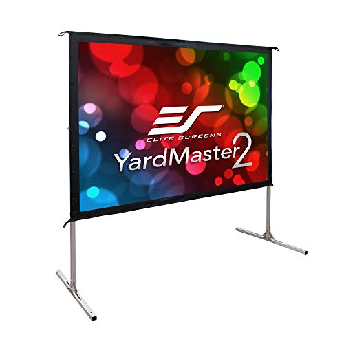 Elite Screens Yard Master 2, 120 inch Outdoor Projector Screen with Stand 4:3, 8K 4K Ultra HD 3D Portable Fast Folding Movie Theater Cinema 120