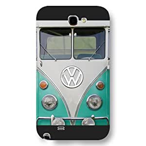 UniqueBox Customized Black Frosted Samsung Galaxy Note 2 Case, VW Minibus Samsung Note 2 case