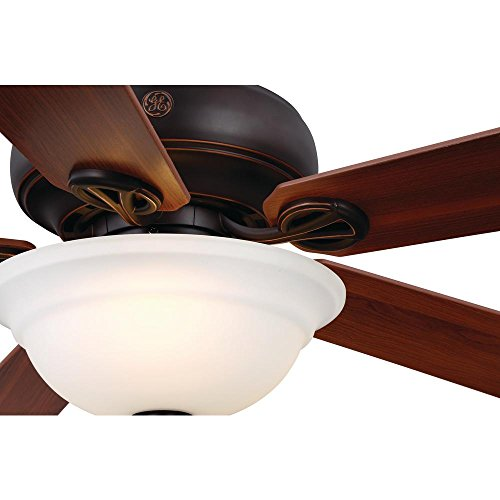 "GE Selena 54"" Bronze LED Indoor Ceiling Fan, SkyPlug Technology for Instant Plug and Play Mounting"