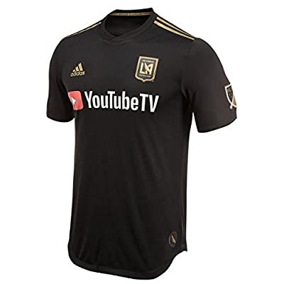 adidas LAFC 2018 Home SS Authentic Jersey- Black/Gold M